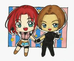 Leon And Claire Chibi Style by LeonandClaireBSAA