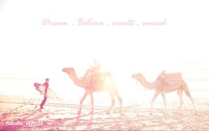 Two Camel on the beach by takakoinwonderland