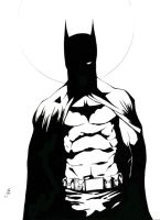 Batman Sketch inks by SpaciousInterior