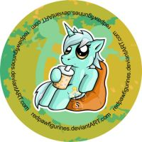 Lyra Chibi Badge by RedPawDesigns