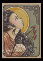 St Philomena ACEO by natamon