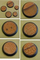 Sculpted lipped bases for wargaming by MechanicalHorizon