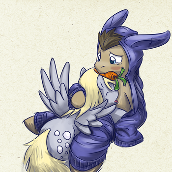 Chocolately Easter Doc Bunny by saturnspace
