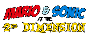 Mario And Sonic At The 2nd Dimension Logo by KingAsylus91