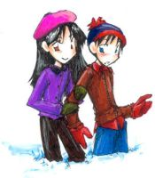 South Park - Stan and Wendy by marchhare