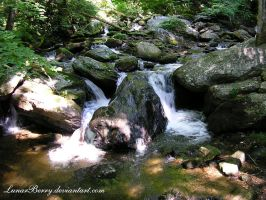 Water on the Rocks by LunarBerry