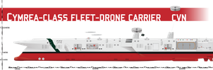 Cymrea-class Fleet Drone Carrier by Afterskies
