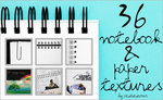 36 Notebook and Paper Textures by acidicicons