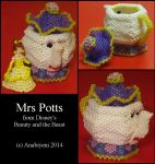 Beaded Mrs Potts from Disney by Anabiyeni