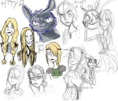 httyd sketches by evy-san
