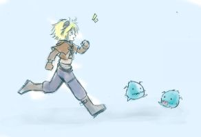 Chasing Poro by FeatherHarp