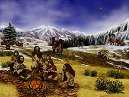 Humor and Horror: Neanderthal Campfires by Kajm