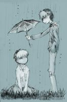 George and Philip - rain by Fukari