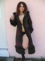 Fuzzy brown Jacket by TheRedBamboo