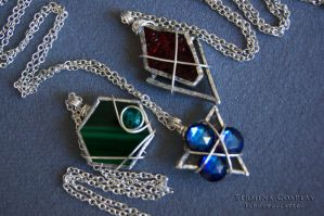 Legend of Zelda- Spiritual Stone Pendants by TerminaCosplay