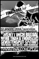 Finalcore fest - flyer by screaminsilence