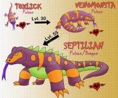 Poisonous Lizard Family 2.0 by JamalPokemon