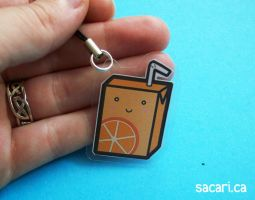 Orange Juicebox Phone Charm by Sacari