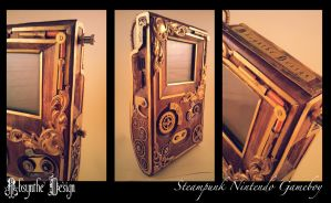 Steampunk Nintendo Gameboy by Absynthe Design by azazel-is-burning