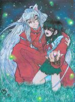 Inuyasha and Kagome by Icequeenkitty