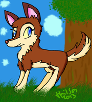 Aleu the wolf by Hollsterweelskitty