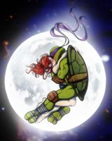 Donatello+April 'HiddenLight2 by JasmineAlexandra