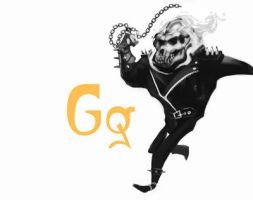 G is for Gorilla Ghost Rider by garyjsmith