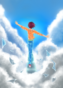 Up to the sky by Sarita-MyWorld