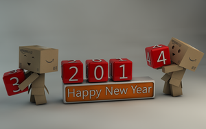 Danbo Happy New Year 2014 by Dracu-Teufel666