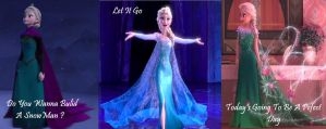 Elsa's gowns by trainheartnetXeclair