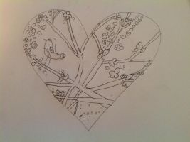 Nature Heart lineart by puppydog83