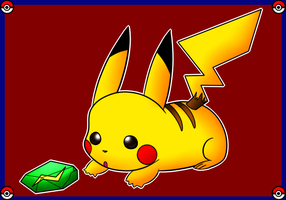 Pikachu and the Thunderstone by PuffyCookieBoo