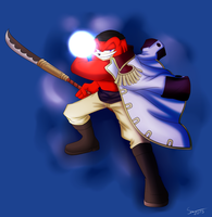 Knuckles as Whitebeard by Superi90