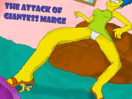 .the attack of giant marge. by kilaa0007