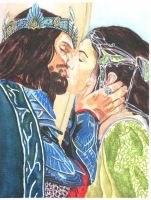 Aragorn and Arwen by scoobylady