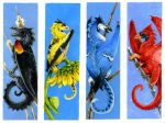 Bird Dragon bookmarks set 1 by Hbruton