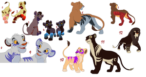 Lion Adoptables (NAME YOUR PRICE) OPEN (1 left!) by Sacredfire200