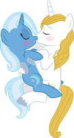 Commission Meadowbreeze: Trixie and Blueblood by benybing