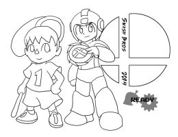 Smash Bros 2014 :Lineart: by Xero-J