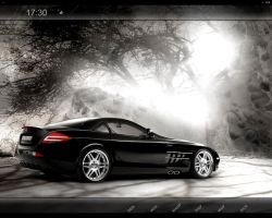 Mercedes SLR black Desktop by nyolc8