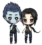 [COMM] Itachi and Kisame pagedoll by Ita-Freak