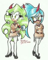 Scanty and Kneesocks :Cosplay: by xl-Jade-lx
