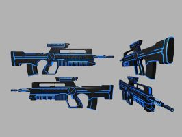 Battle rifle Blue by Warkom