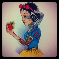 tattooed snow white by FIZZINK