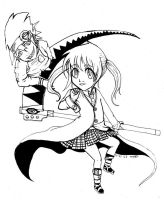 soul eater chibi lineart by sophira-moonlily