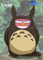 The Alpha Bunni as Totoro by Toughset