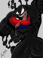 Venom Vs Spiderman C by KKal