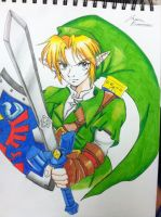 Ocarina of time link by northernlightsky