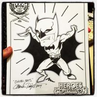 2014 Heroescon Drink and Draw Chibi Batman by BigDogsStudio