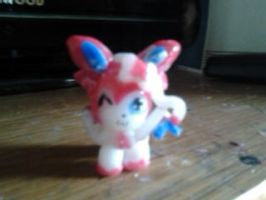 Chibi Sylveon sculpture commission by LionOrBeast